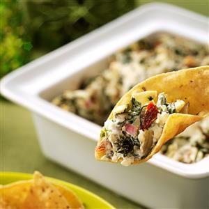 Artichoke, Spinach & Sun-Dried Tomato Dip Recipe