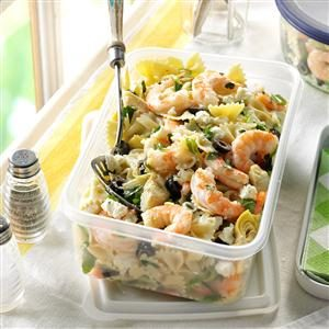Artichoke Shrimp Pasta Salad Recipe