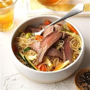 Asian Noodle & Beef Salad Recipe