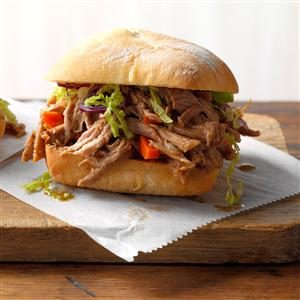 Asian Shredded Pork Sandwiches