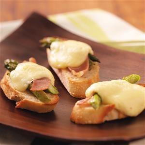 Asparagus, Brie & Parma Ham Crostini
