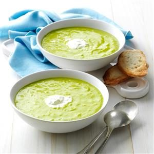 Asparagus Soup with Lemon Creme Fraiche