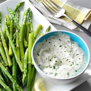 Asparagus with Fresh Basil Sauce Recipe