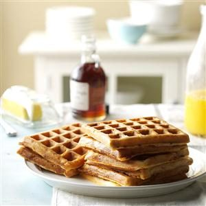 Bacon and Cheese Waffles Recipe