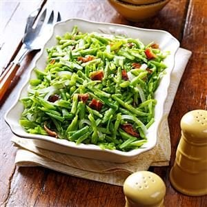 Bacon and Garlic Green Beans
