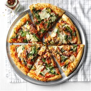Bacon and Spinach Pizza Recipe