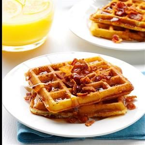 Bacon Potato Waffles Recipe