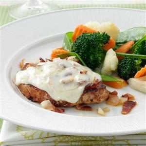 Bacon-Swiss Pork Chops Recipe