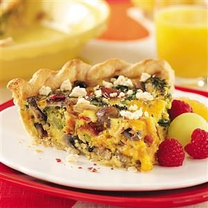 Bacon Vegetable Quiche Recipe