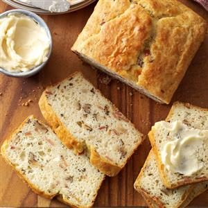 Bacon Walnut Bread with Honey Butter Recipe