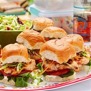 Baja Chicken & Slaw Sliders Recipe