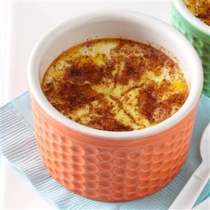 Baked Custard with Cinnamon Recipe