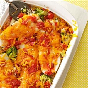 Baked Orange Roughy and Rice Recipe