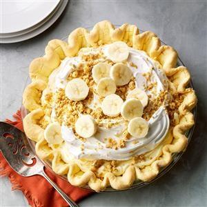 Banana Cream Pie with Cake Mix Crust Recipe