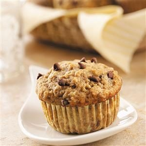 Banana Muffins with Miniature Chocolate Chips Recipe