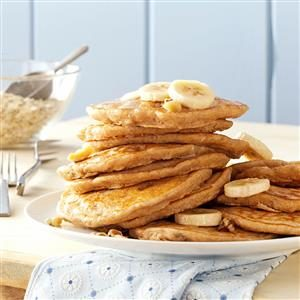 Banana Oatmeal Pancakes Recipe