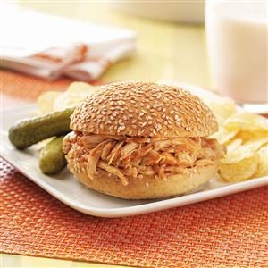 Barbecued Chicken Sandwiches Recipe