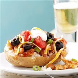 Barbecued Chicken-Stuffed Potatoes Recipe