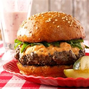 Basil Burgers with Sun-Dried Tomato Mayonnaise Recipe