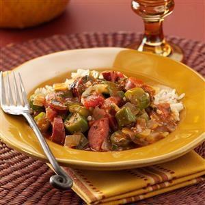 Bayou Okra Sausage Stew Recipe
