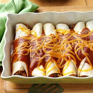 Beef 'n' Rice Enchiladas Recipe