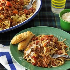 Beef Bolognese with Linguine Recipe