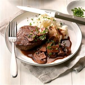 Beef Fillets with Portobello Sauce Recipe