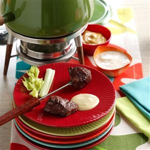 Beef Fondue with Sauces