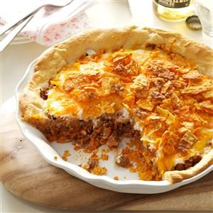 Beef Nacho Pie Recipe
