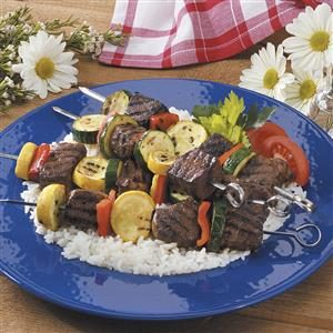 Beef Squash Shish Kabobs Recipe
