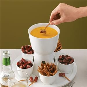 Beer & Cheddar Fondue Recipe
