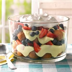 Berry, Lemon and Doughnut Hole Trifle Recipe