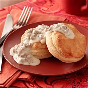 Biscuits with Turkey Sausage Gravy Recipe