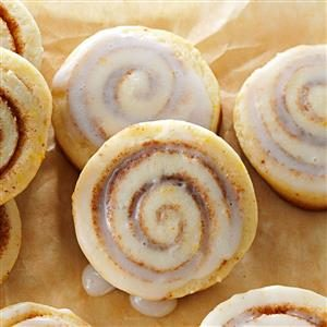 Bite Size Cinnamon Roll Cookies