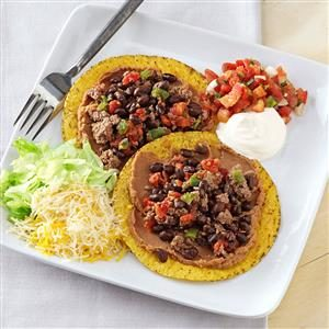 Black Bean and Beef Tostadas Recipe