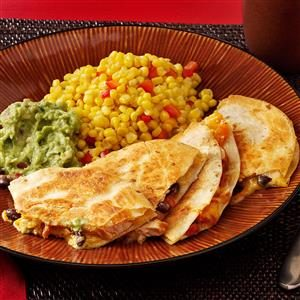 Black Bean-Chicken Quesadillas Recipe