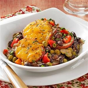 Black Bean Potato au Gratin