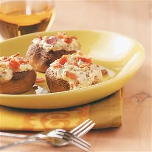 Blue Cheese and Bacon Stuffed Mushrooms Recipe