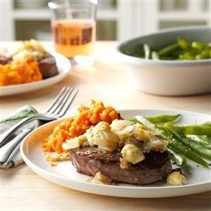 Blue Cheese-Crusted Sirloin Steaks Recipe
