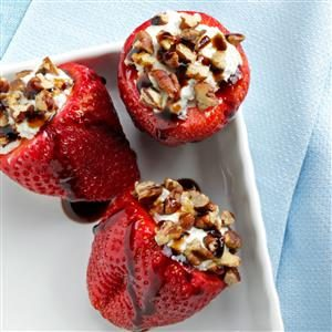 Blue Cheese-Stuffed Strawberries Recipe