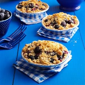 Blueberry Crumble Tarts Recipe