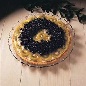 Blueberry/Kiwi Flan Recipe