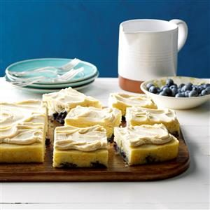 Blueberry Pan-Cake with Maple Frosting Recipe | Taste of Home