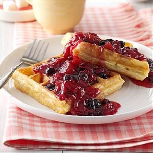 Blueberry/Rhubarb Breakfast Sauce Recipe