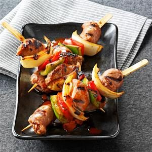 Bourbon Brat Skewers Recipe