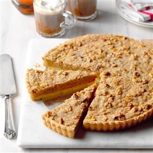 Bourbon Pumpkin Tart with Walnut Streusel Recipe | Taste ...