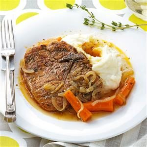 Braised Herb Pork Chops Recipe