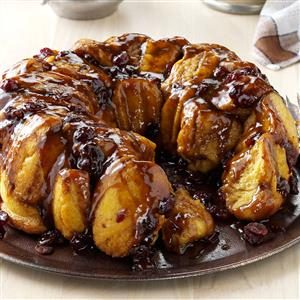 Bread Machine Pumpkin Monkey Bread