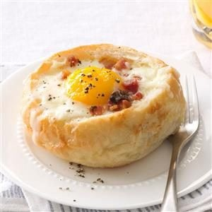 Breakfast Bread Bowls Recipe