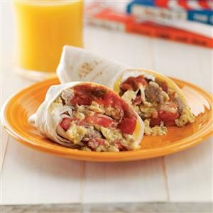 Breakfast Burritos for Two Recipe
